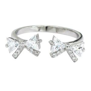 Fashion bow crystal ring